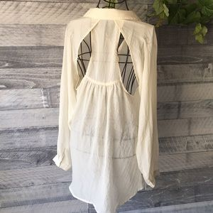 Have Tops - Cream HAVE cut out blouse